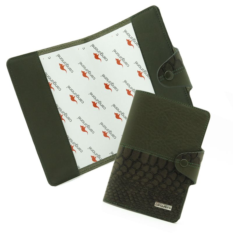 кожаная паспорт cangurione handmade обложка