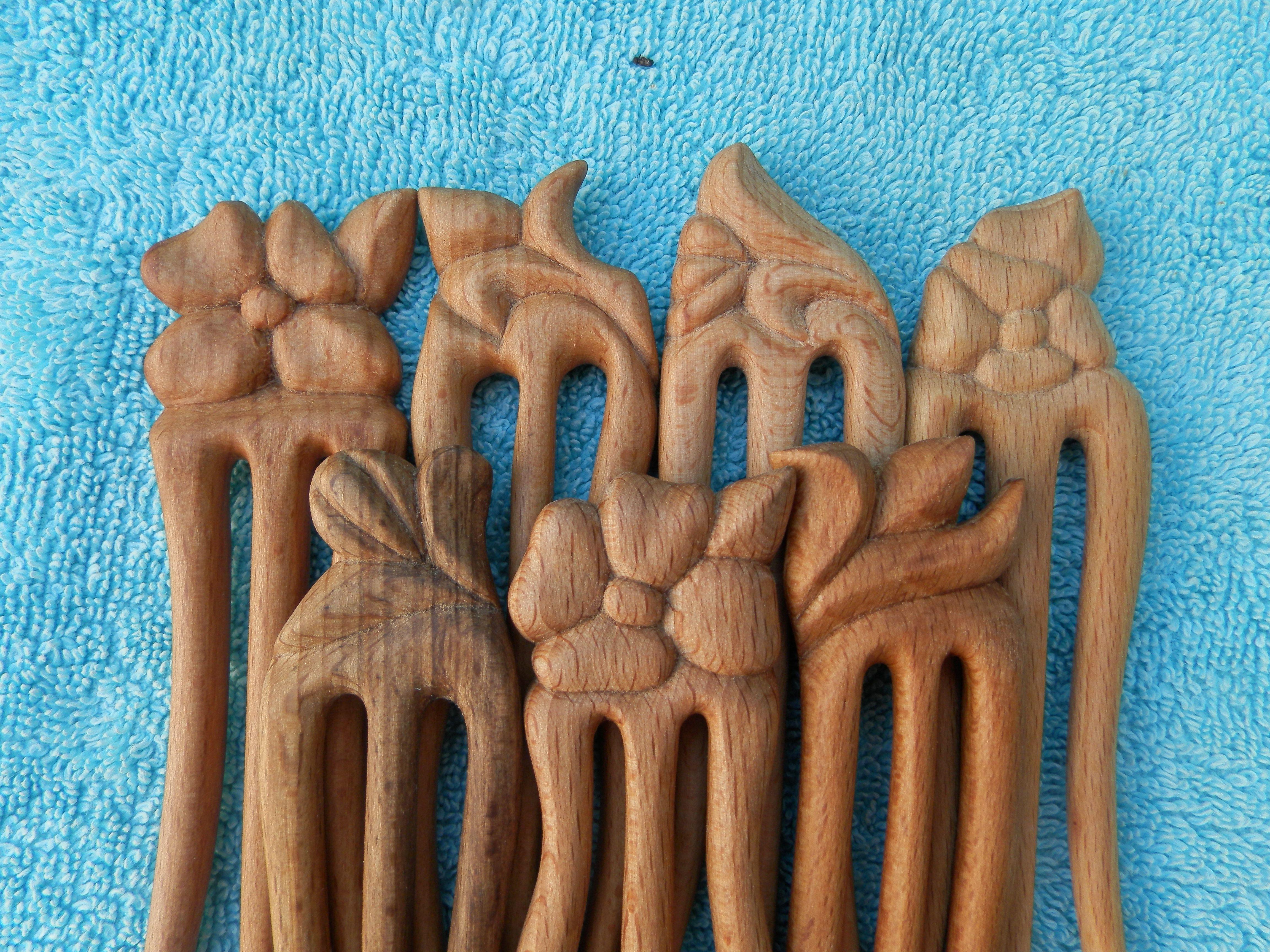 заколказаколка девушекподарок девушкеручная дереварезная заколкадля для работа женщиндля