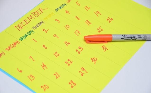 Календарь на год своими руками 4