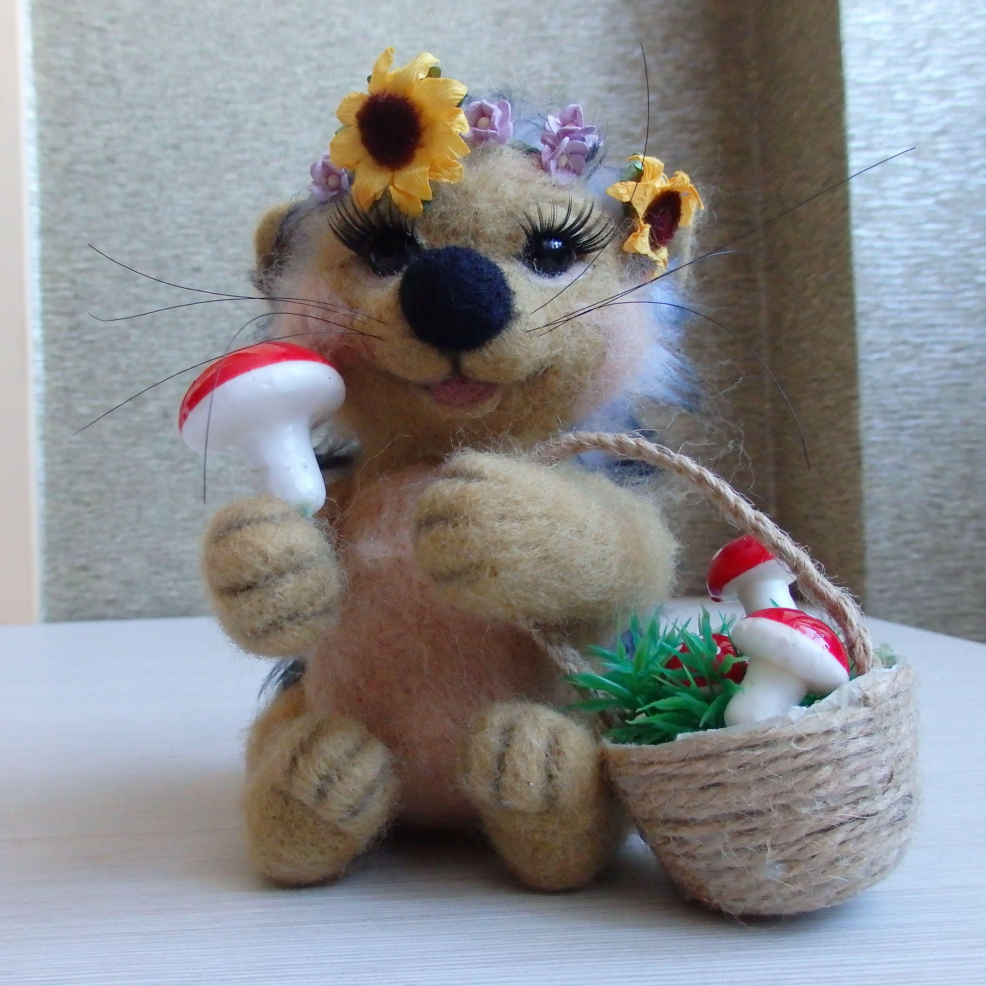 валяние ручная сухоеваляние ёжик ежик хендмейд работа игрушкаизшерсти сувениризроссии подарок