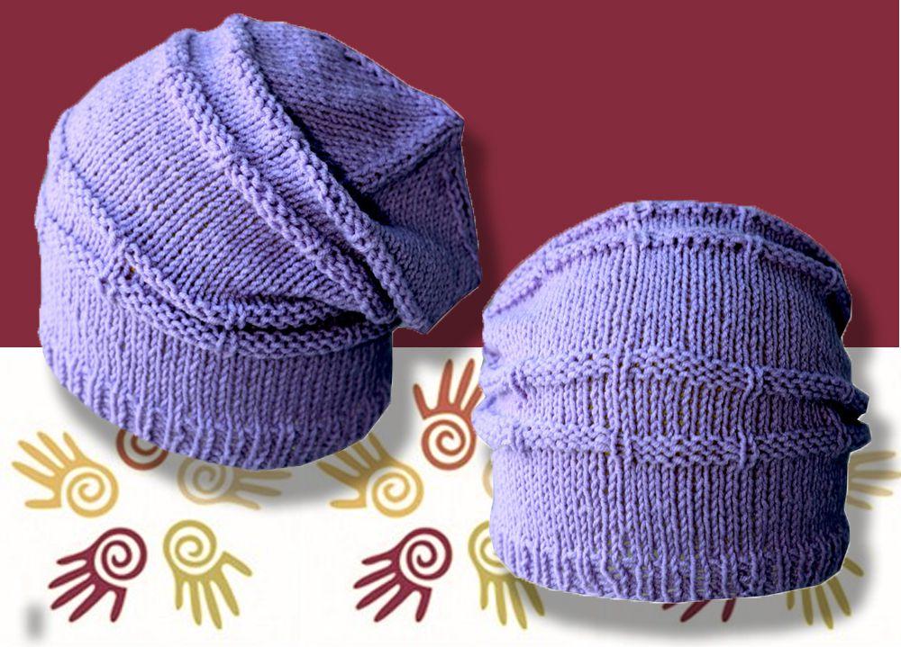 шапка-чулок спицами сиреневая хлопка и связанное аксессуары хлопок детская ручная детские детям шляпы шапки продажа купить шапочка из работа