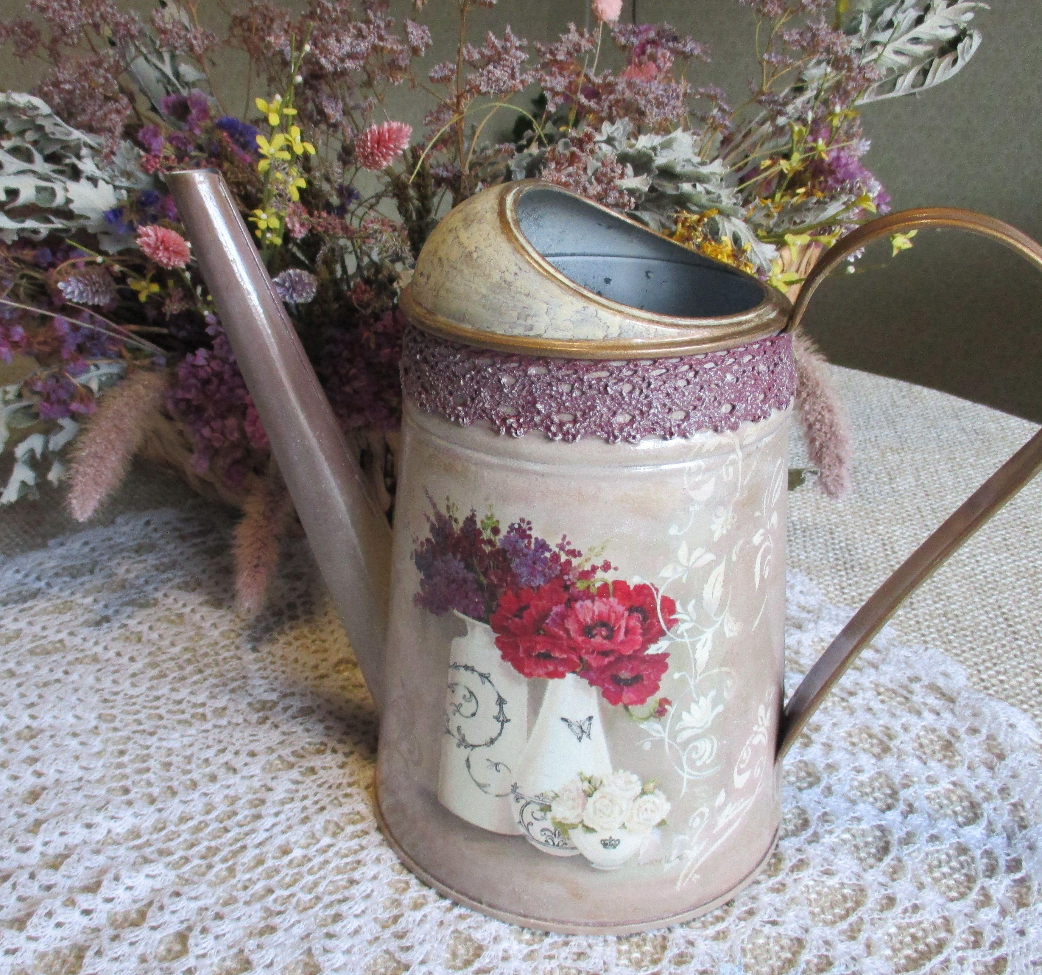 для цветов лейка оцинкованная полива цветы