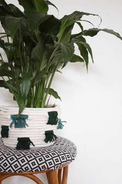 декора дома для идеи кашпо корзина руками своими плетенная сделай сам