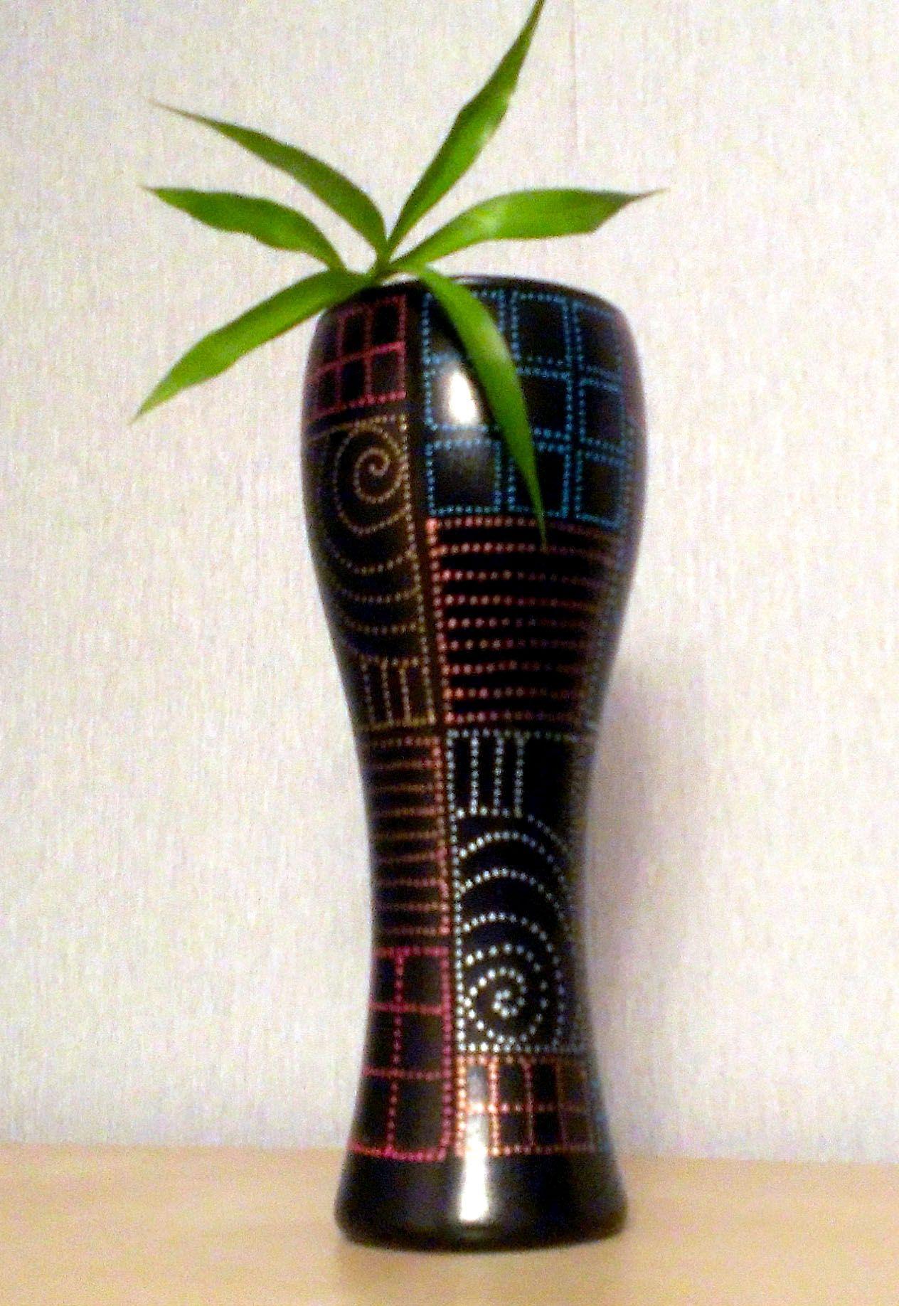 цветы декоративнаяваза узоры блюз handmade ваза тарелка точечнаяроспись декор декоративнаятарелка подарок ручнаяработа