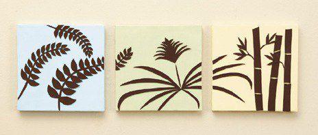 картина цветы панно тропики пальмы