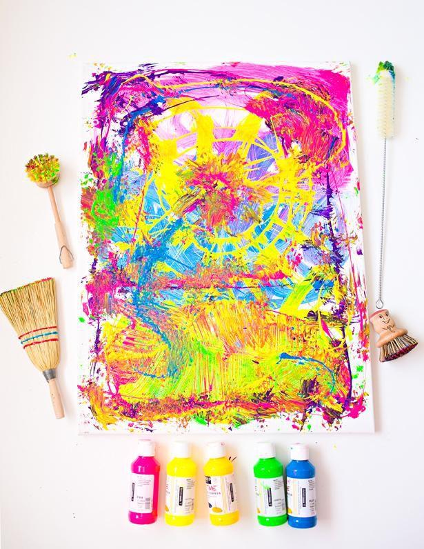 идеядлядома идея вдохновение абстракция детскоетворчество абстрактнаякартина поделкисдетьми сделайсам декор креатив своимируками хендмейд творчество картина