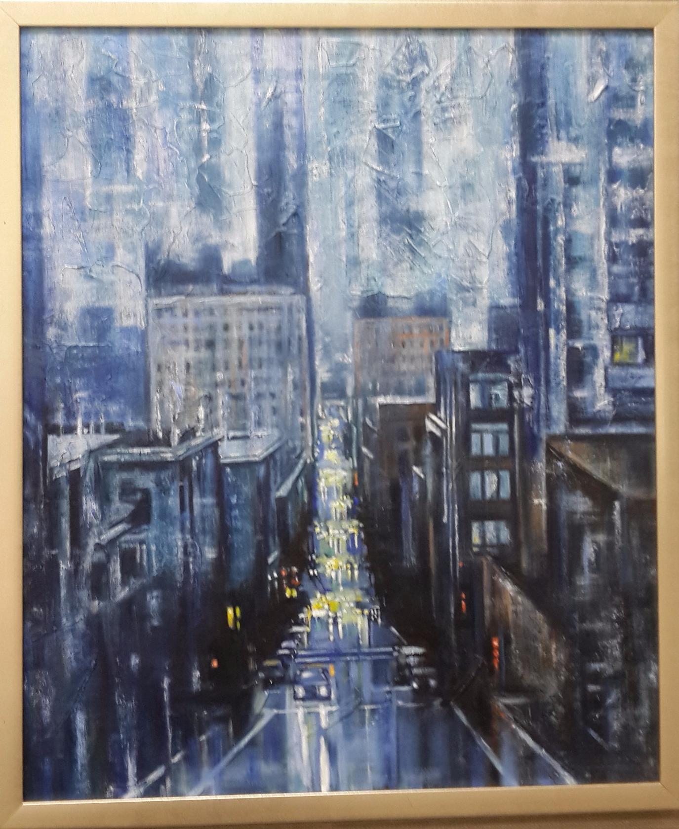 маслом городской картина паста заказ на структурная картины пейзаж