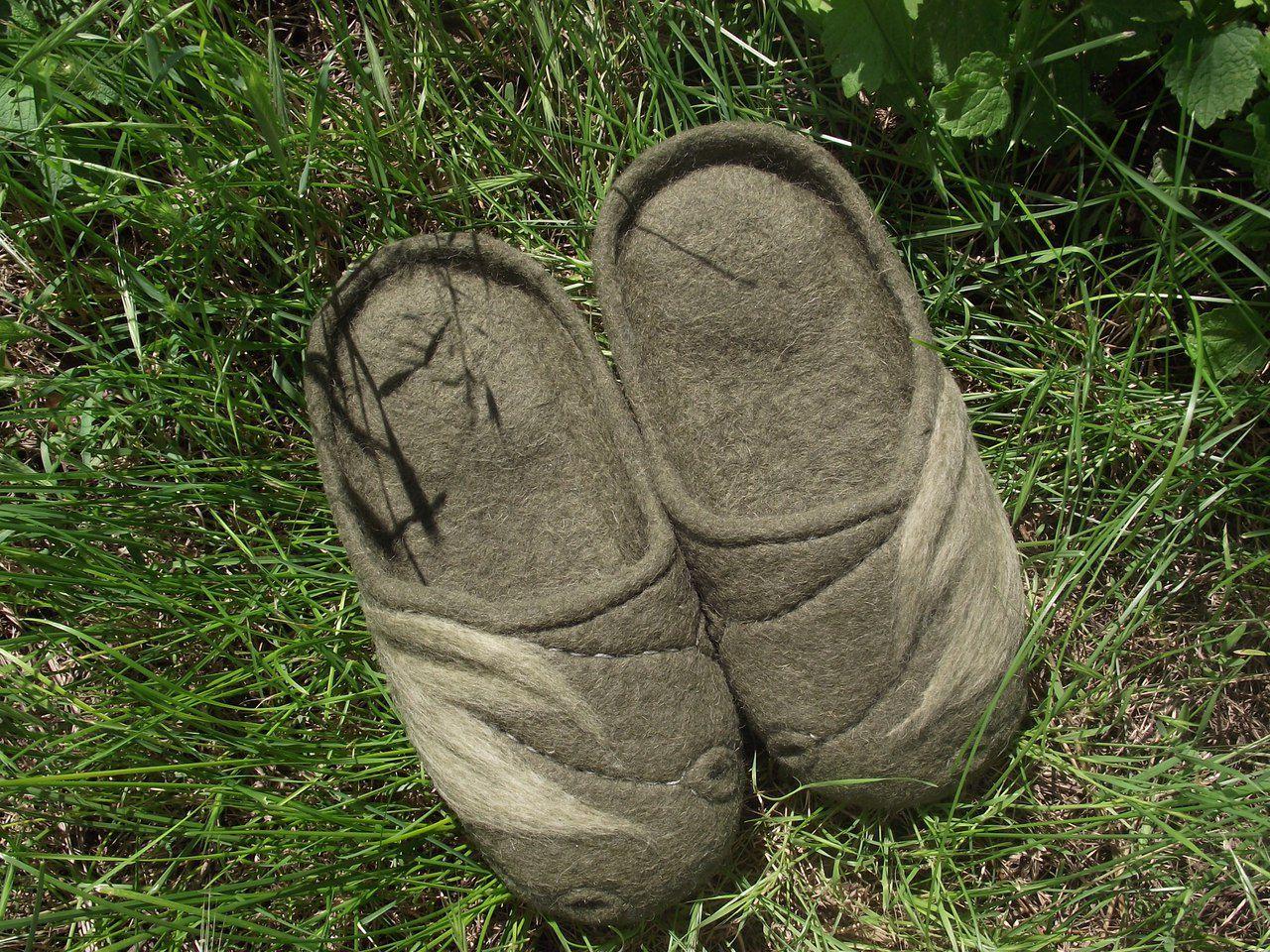 эко домашняя обувь шерсть 100