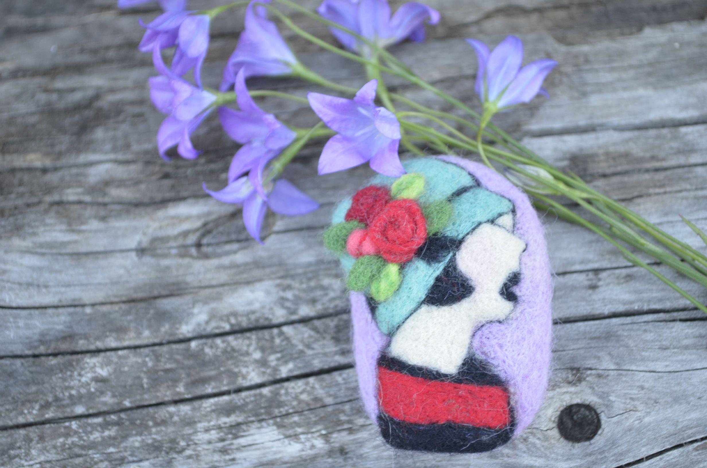 камея украшение брошь цветная шерстянная шесть ювелирка подарок валяние