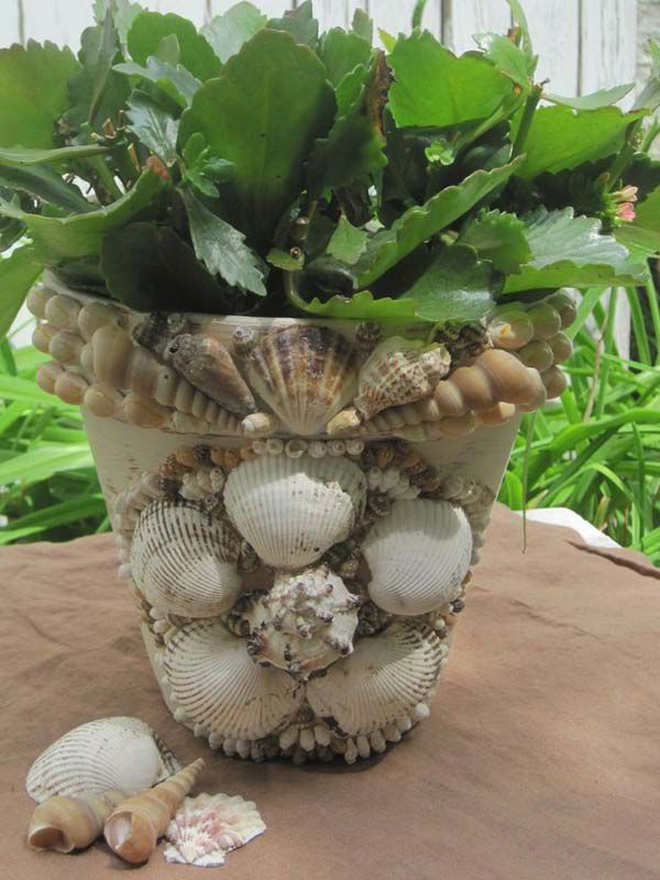 тематика дома морская горшки растений декор для морской идеи руками стиль своими сделай сам