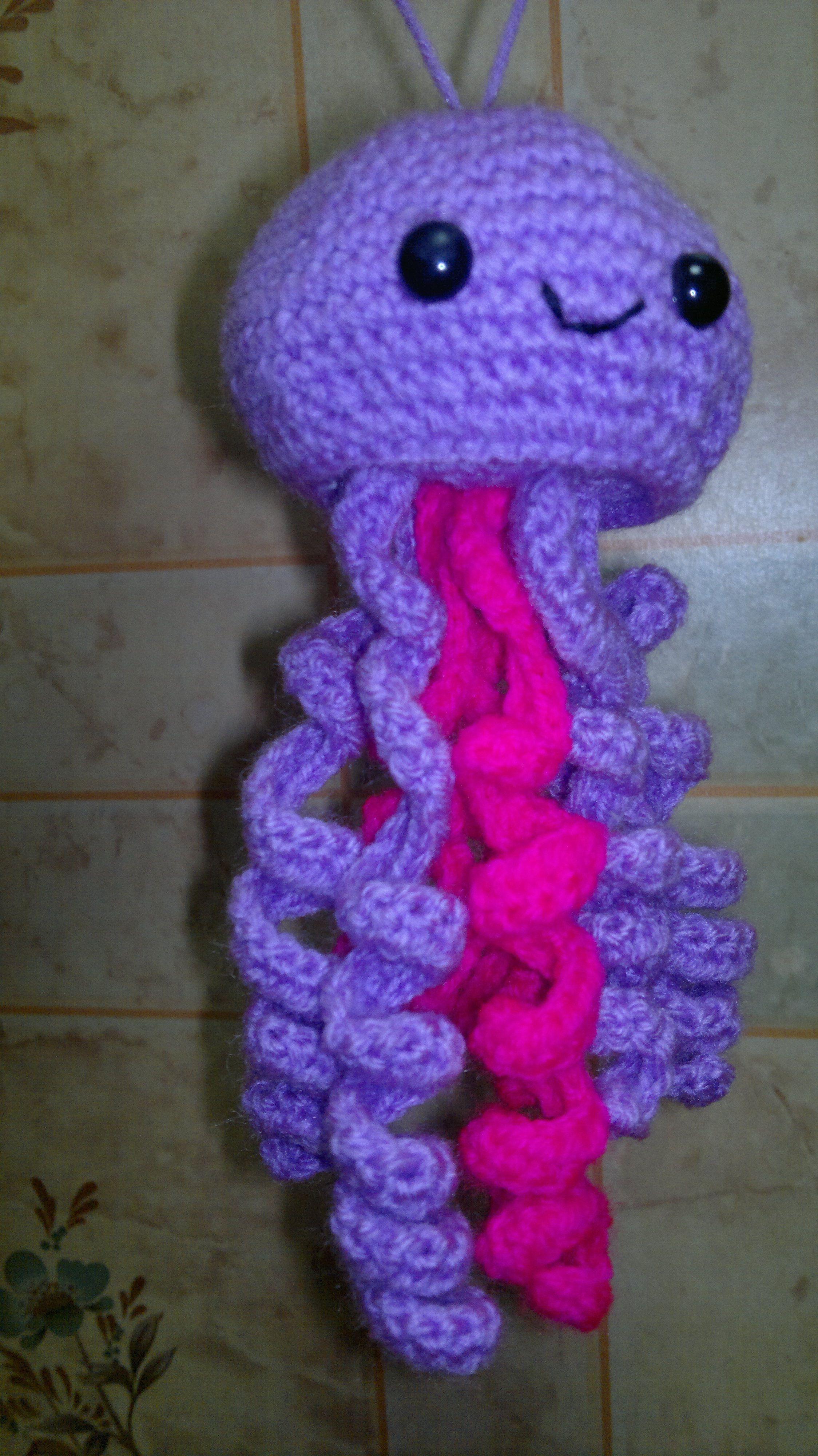 медуза игрушки подарки вязаные крючком