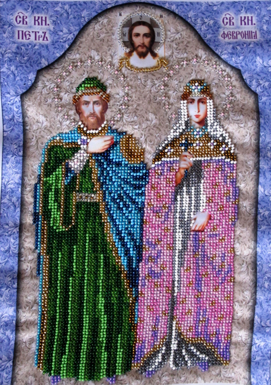 к святые свадьбеподарок годавщине новосельюпетр феврониявышивкавышивка бисеромручная бисером и икона работа подарок