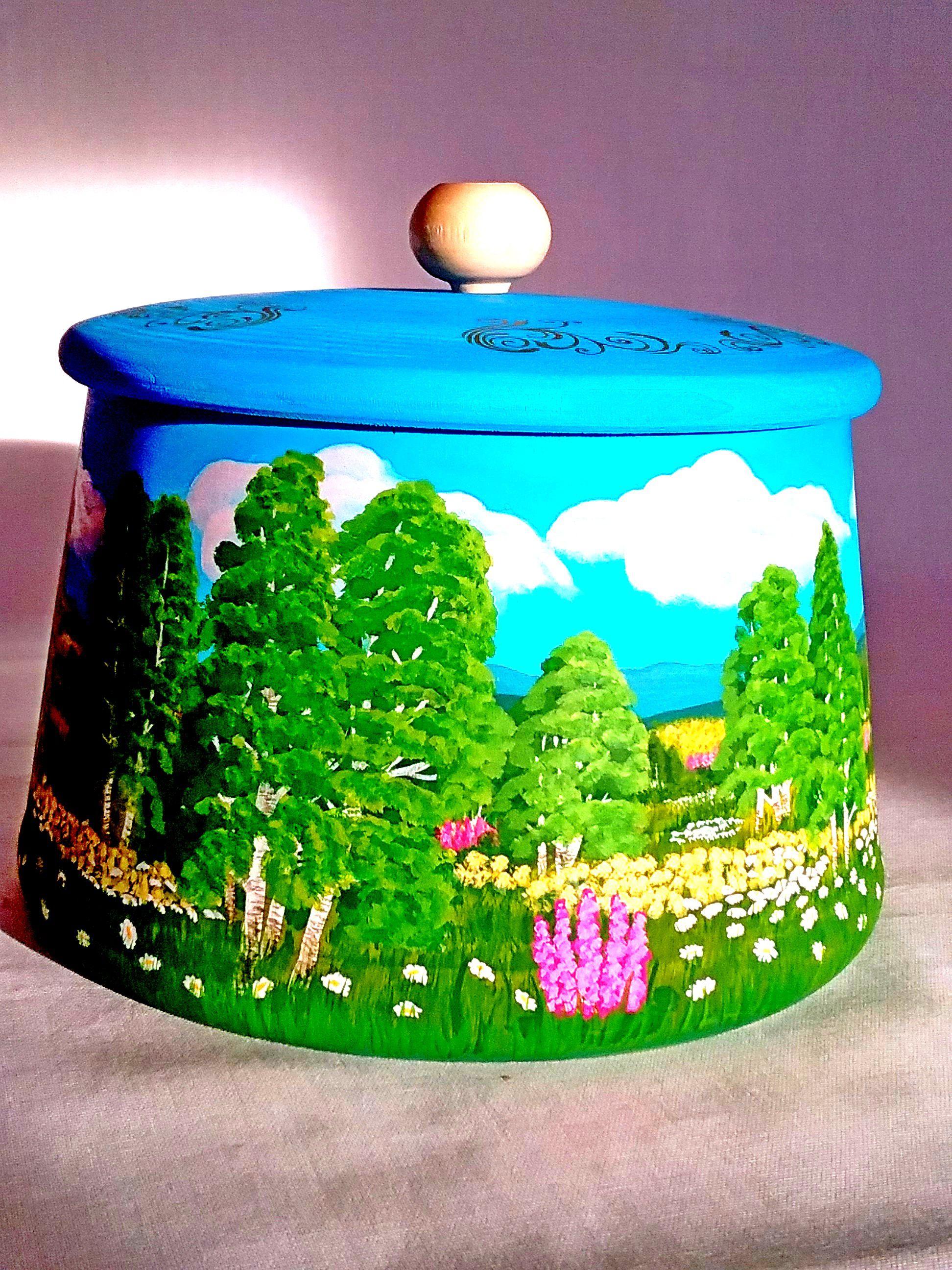 подарок емкость подарокручнойработы посуда сувенир сувениры сувенирручнойработы деревянная пейзаж праздники подарки необычное