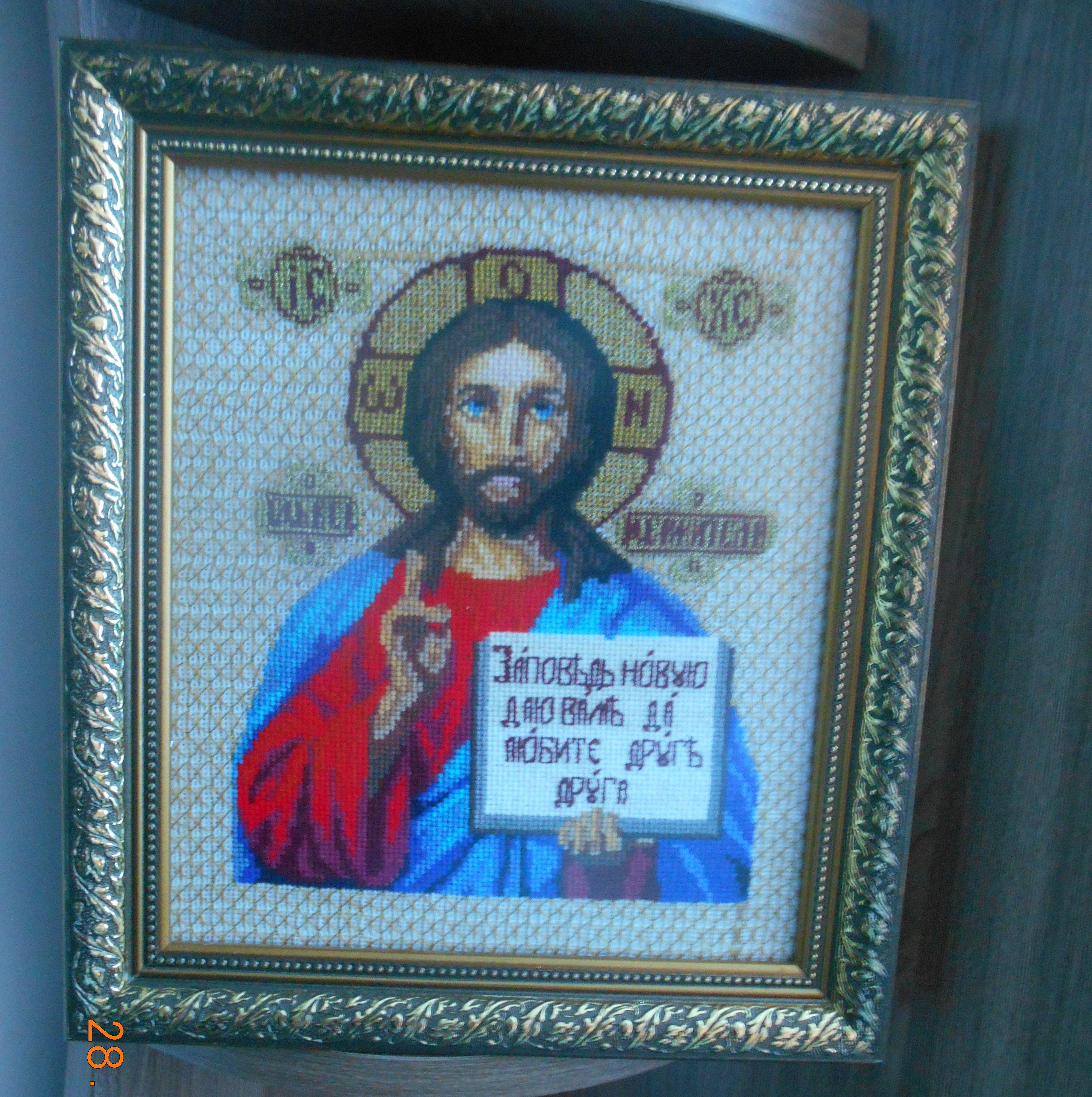 багет канва вышивка икона картины спаситель