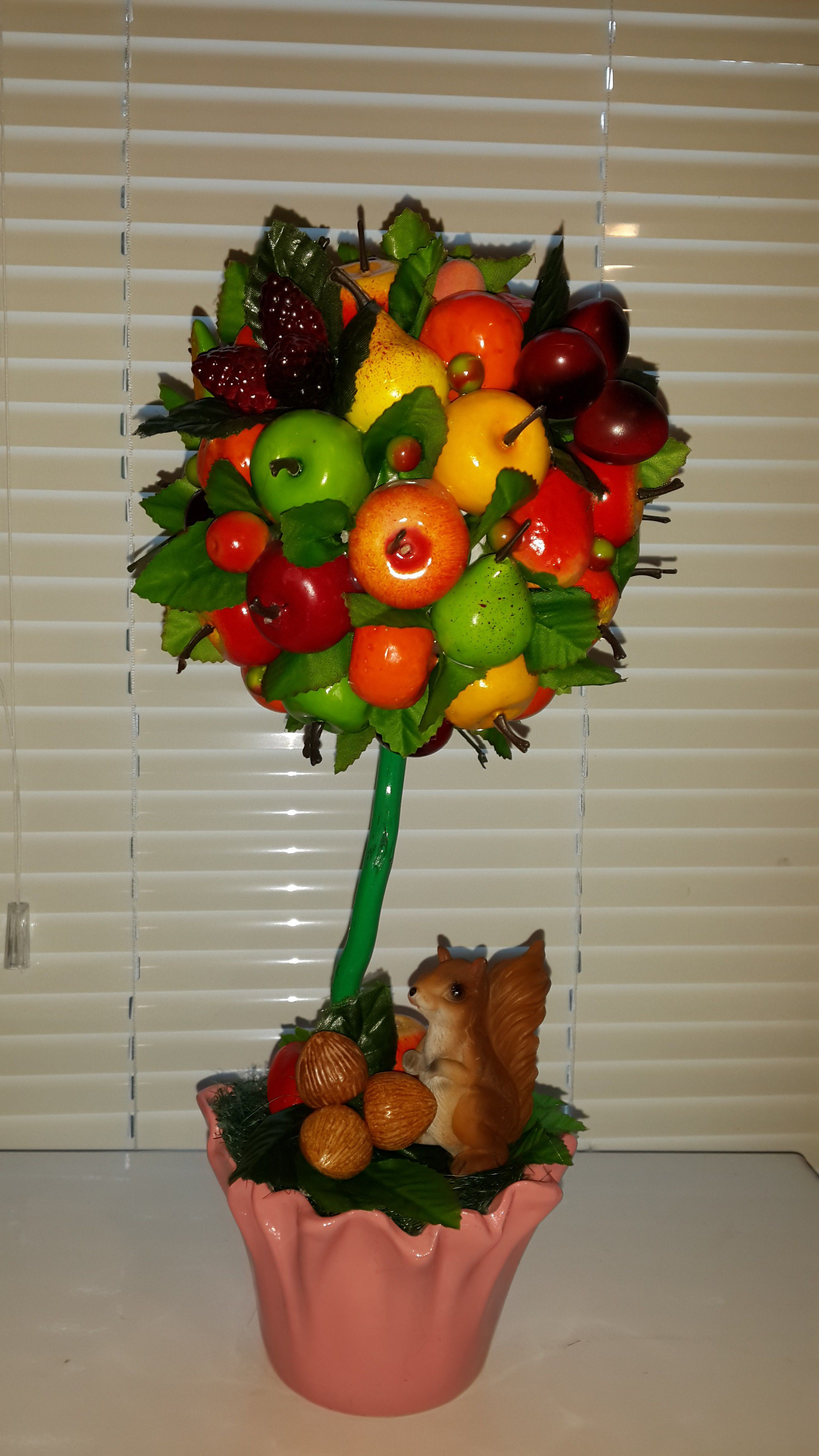 повозка ротанг фрукты ручная праздник топиарий работа велосипед оригинальный подарок