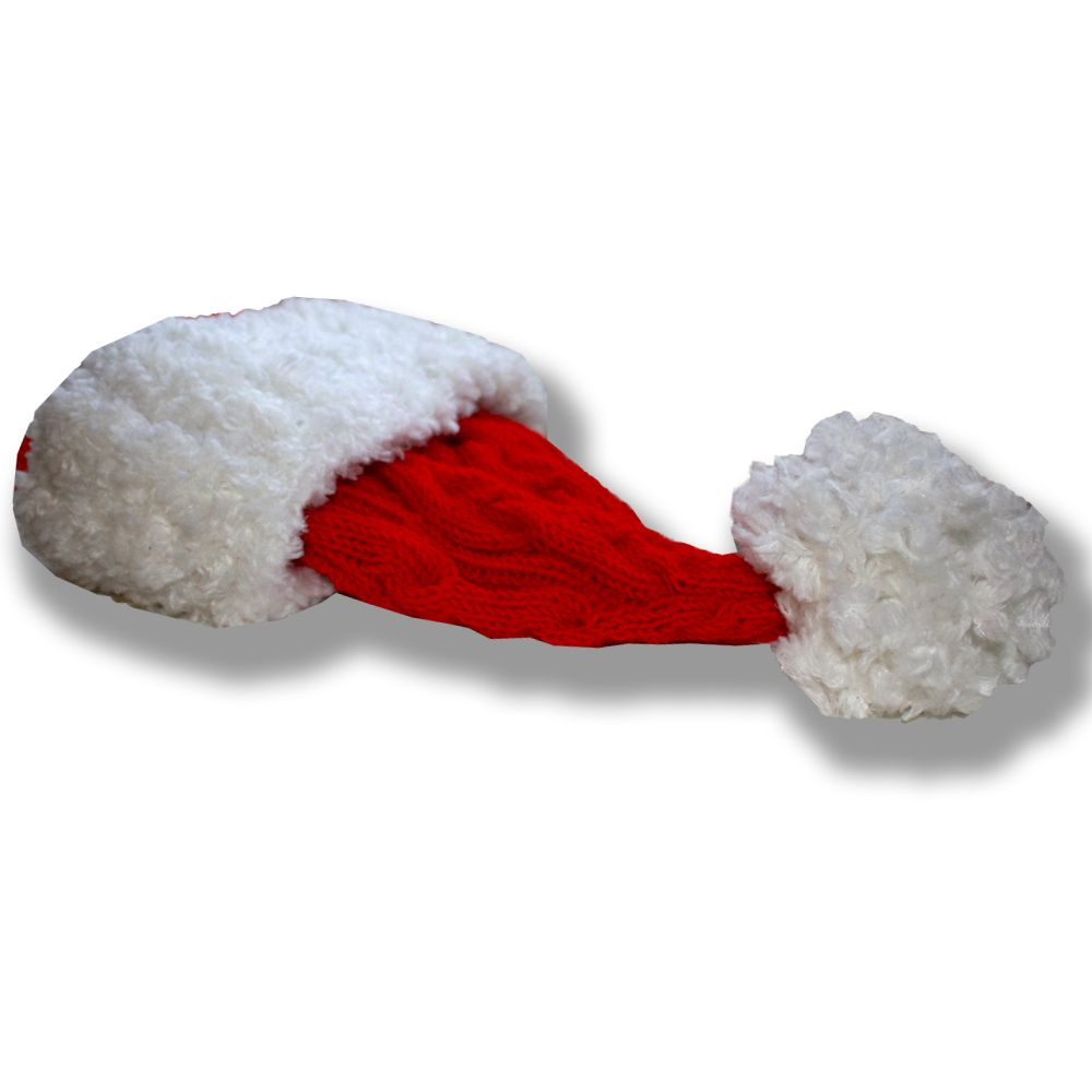 колпак спицами теплая гном мороз красная костюмы связанные 2016 новогодний новый подарки аксессуары ручная праздник детские детям шапки продажа купить новогодние шапочка санта дед косы работа год подарок