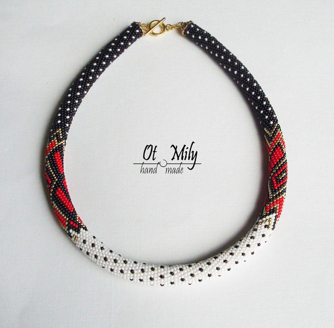 ожерелье вязаный бисер шея жгут украшение колье