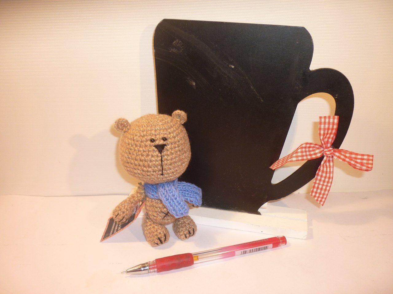 ручнаяработа вязаный медведь игрушка работа