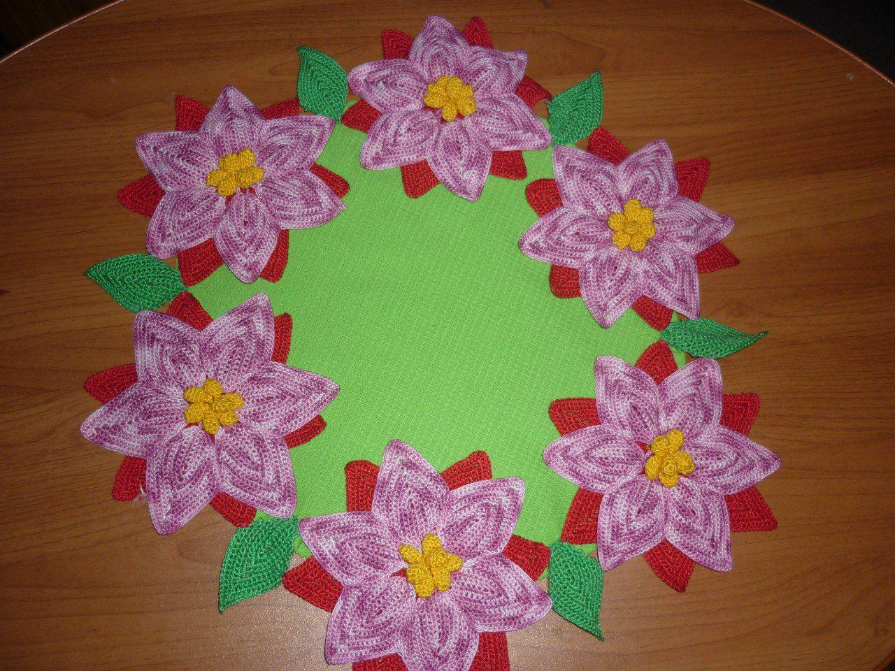 романтика цветами с салфетка