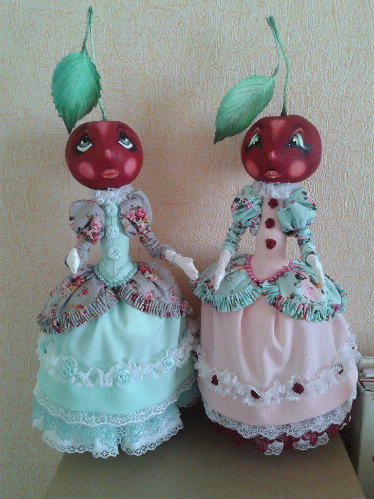 авторскаяигрушка вишенки куклы текстильнаякукла праздник чипполлино подарок