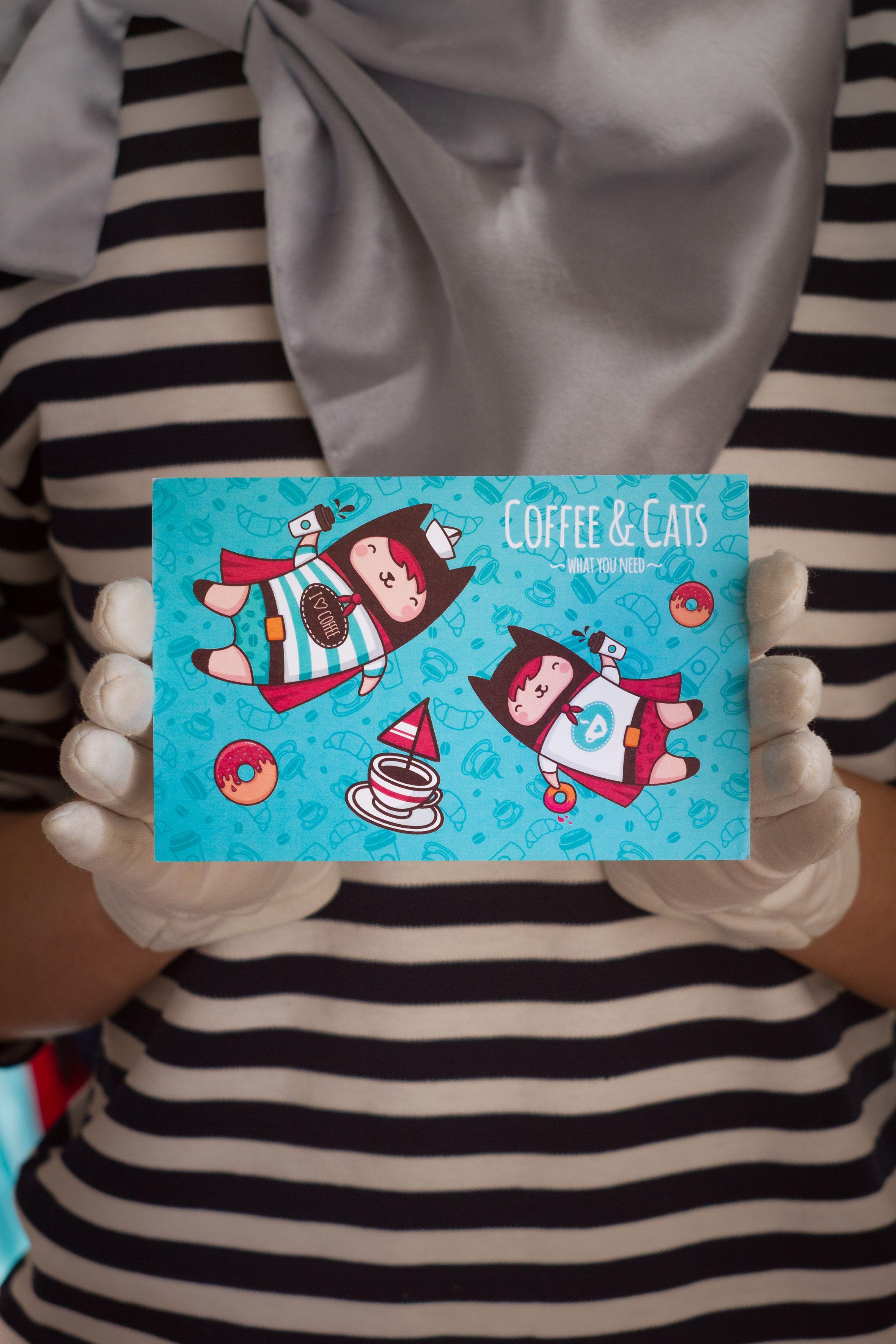 coffee знаквнимания gift cats card сюрприз surprise remembrance коты открытка кофе кошки подарок