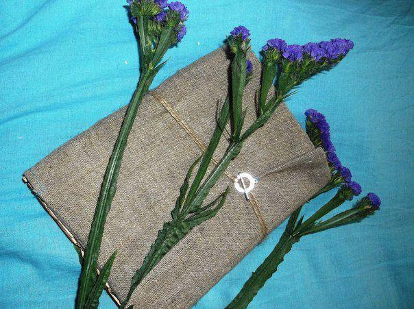 блокнот текстильнаяобложка подарок состаренный оригинальный
