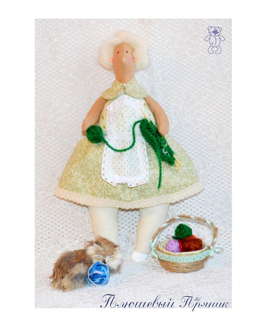 подарок кукла рукодельница тильда handmade