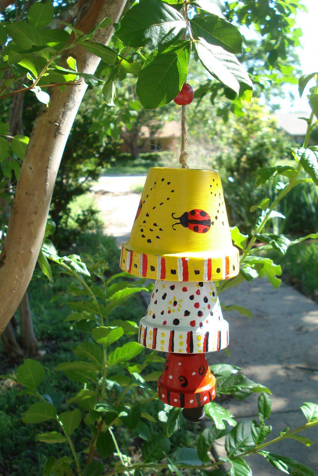музыка декора идеи руками ветра горшки цветочные своими дети
