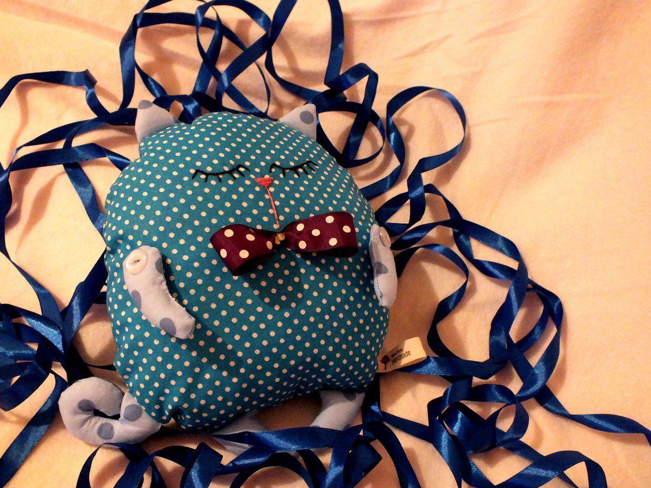 котик рукома сплюша красота хендмейд ткани кот своими