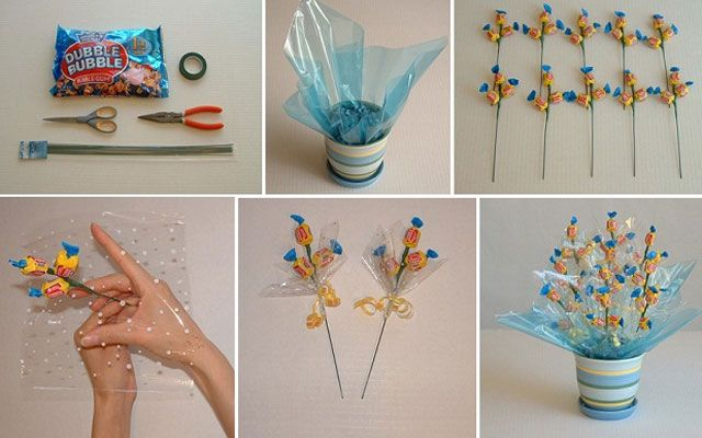 Букеты из конфет своими руками 8