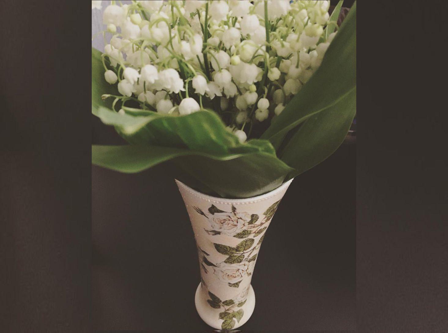 декоративнаятарелка точечнаяроспись handmade ваза декор розы ручнаяработа подарок