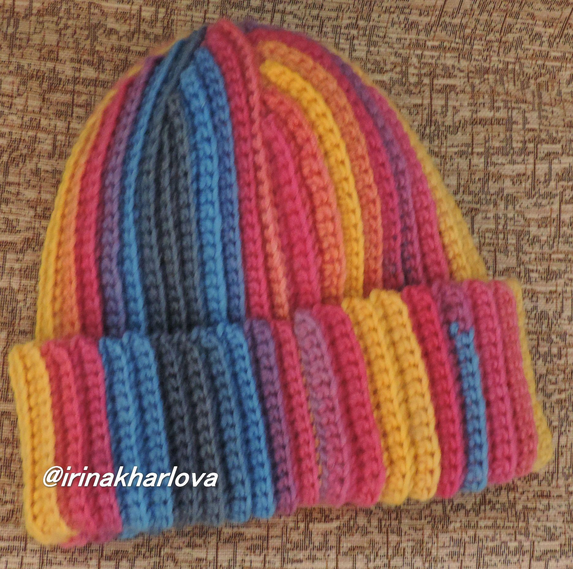 женщине подарок крючок стильнаяшапка купитьшапку яркаяшапка красиваяшапка шапка весна девушке вязаниеназаказ вязаниекрючком