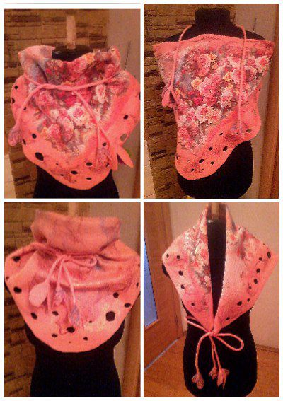 бактусваляный шерстяныешарфы шарфываляные шелк handmade шерсть