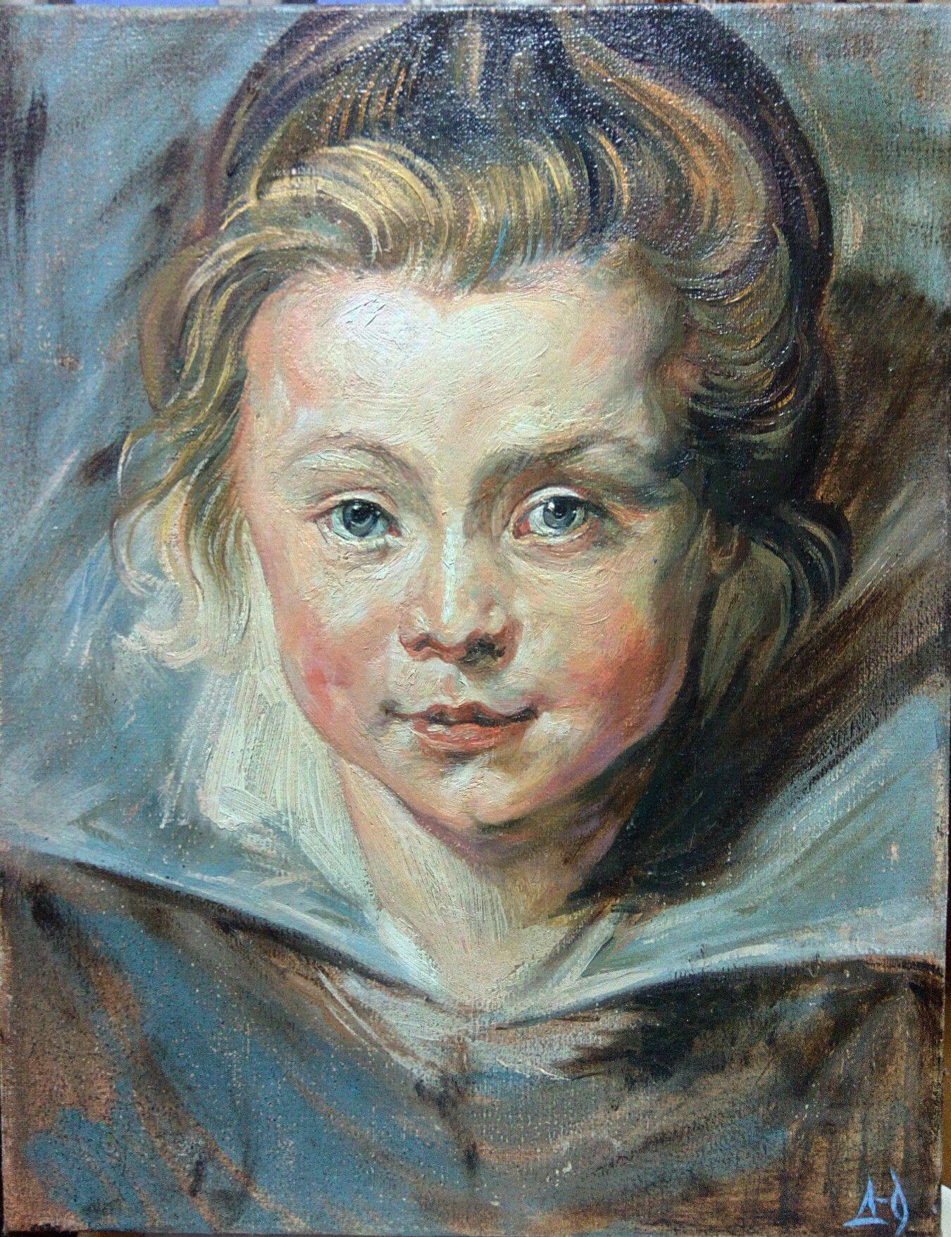 картина живопись ребёнок искусство портрет дети красиво