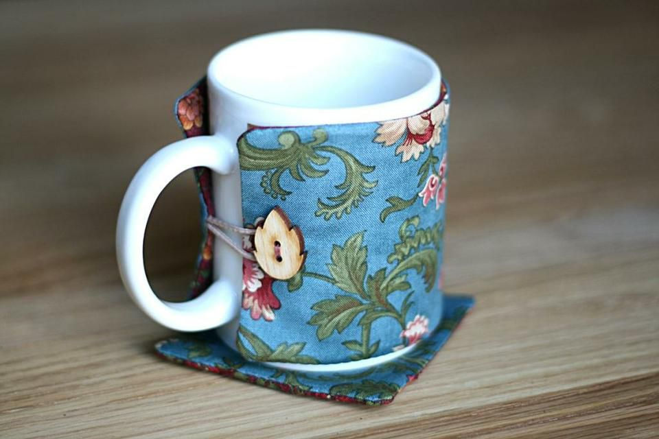 домашний шьем мастеркласс текстиль чехол ткань чашка