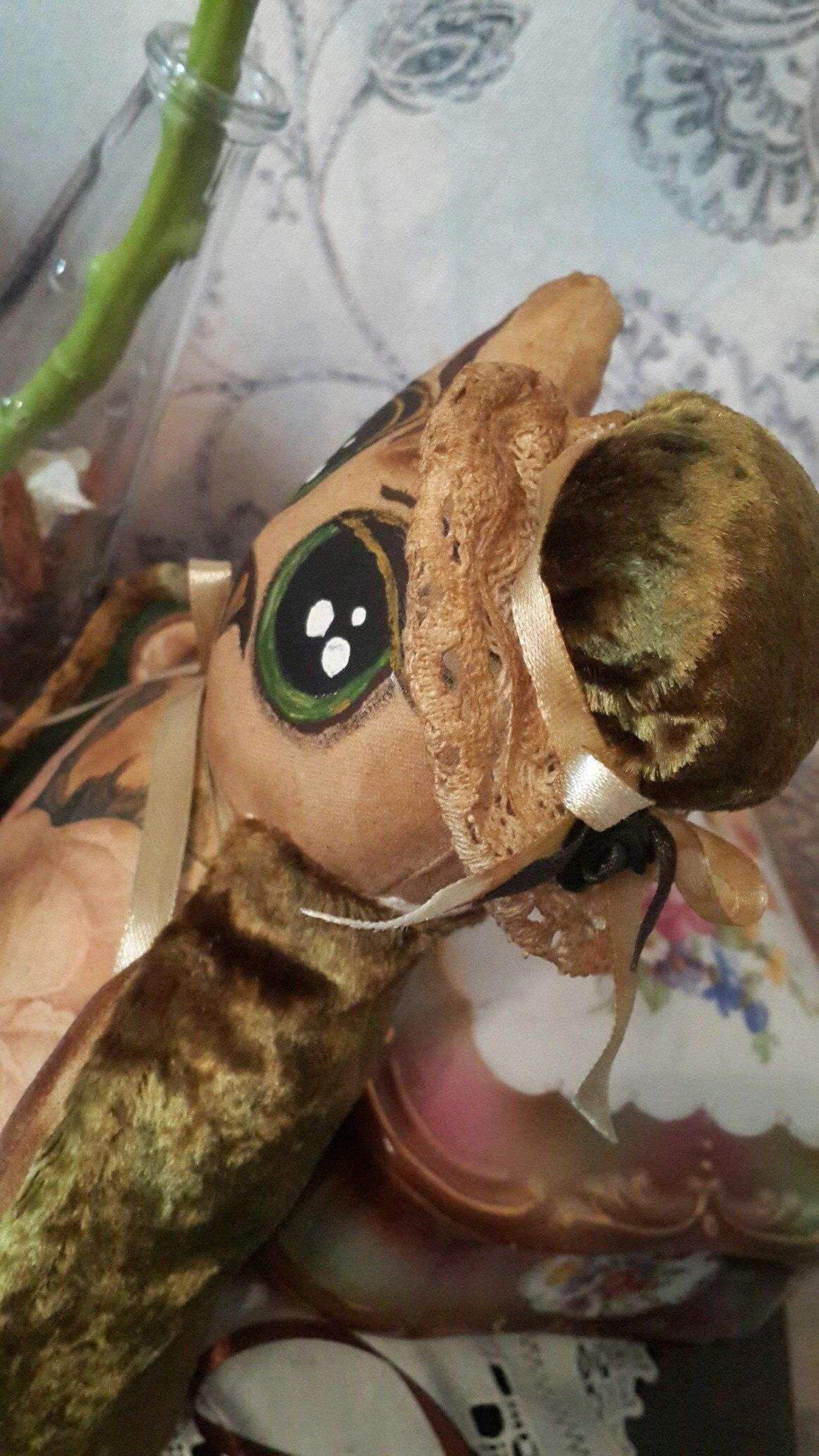 декупаж сова чердачная игрушка мягкая интерьер корица кофе пряник