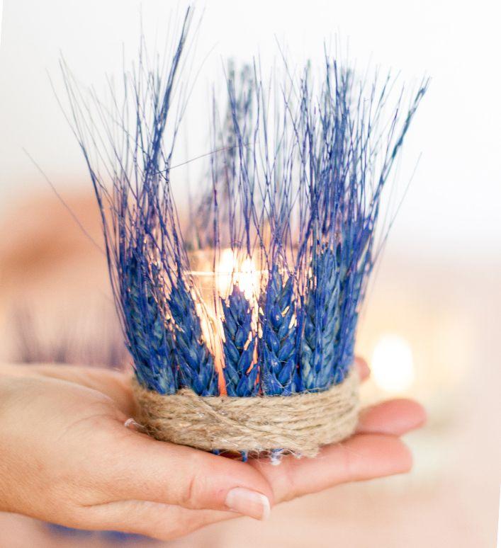 подсвечники декор свечи экодекор мастерклас