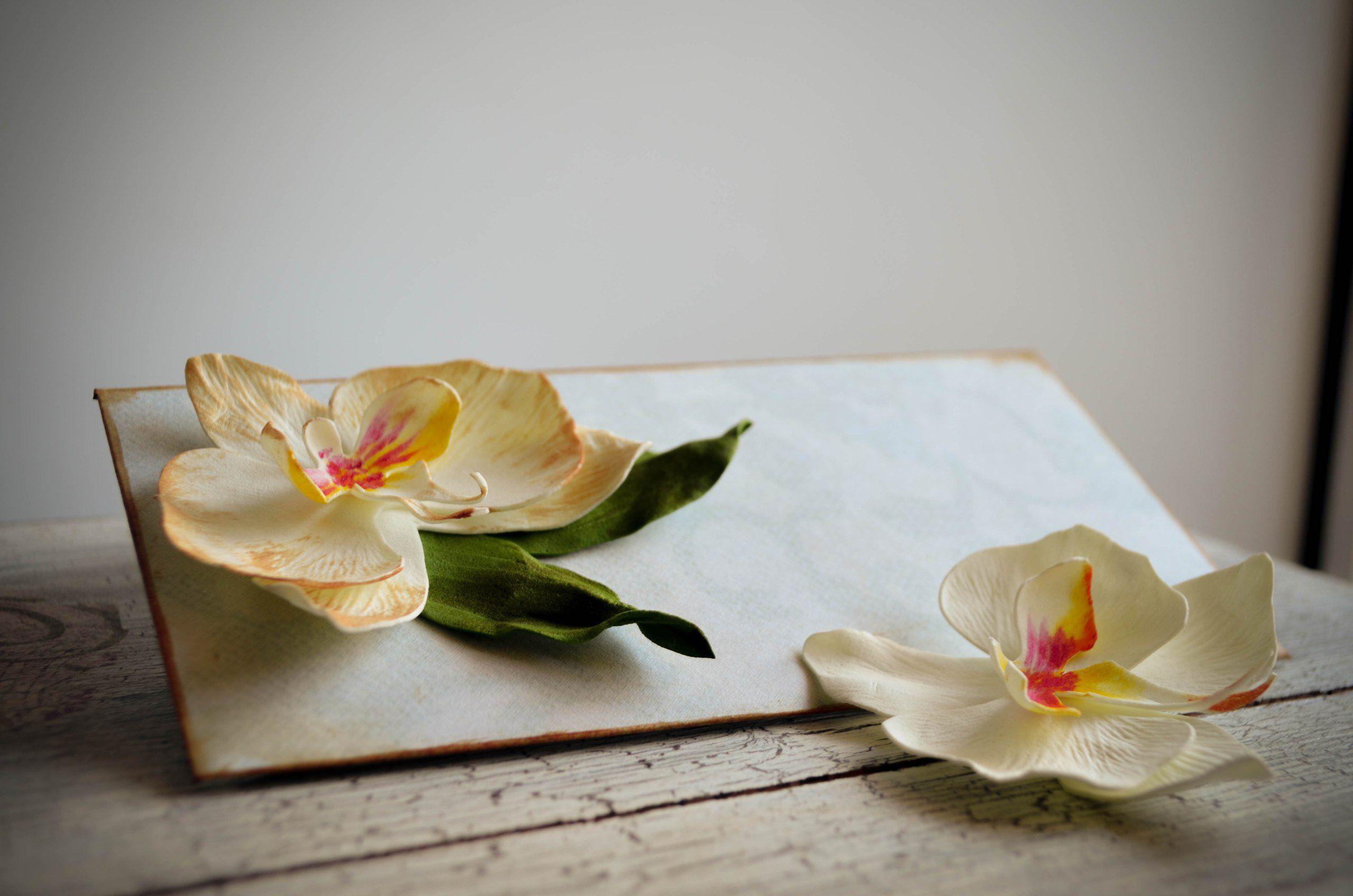 авторская работа орхидея праздник фоамиран открытка поздравление.